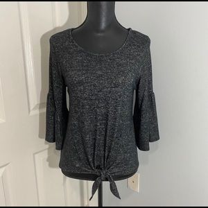 Caution 2 the Wind Sweater Charcoal Gray Small